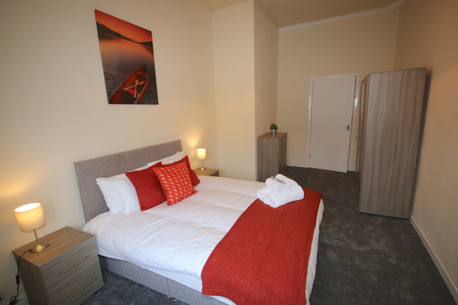 Double bedroom with private bathroom image